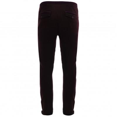 Мужские дизайнерские брюки из плотной хлопковой ткани с эластаном темно-коричневые японского бренда Juoadashi