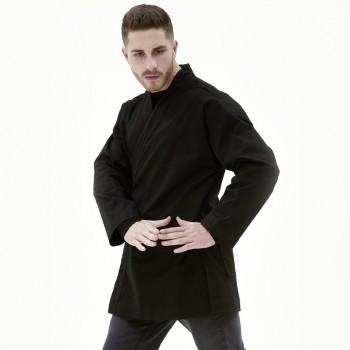 Кимоно дизайнерское черное.100% хлопок.