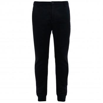 Мужские  брюки-джоггеры темно-серые из хлопка с эластаном японского бренда Juoadashi