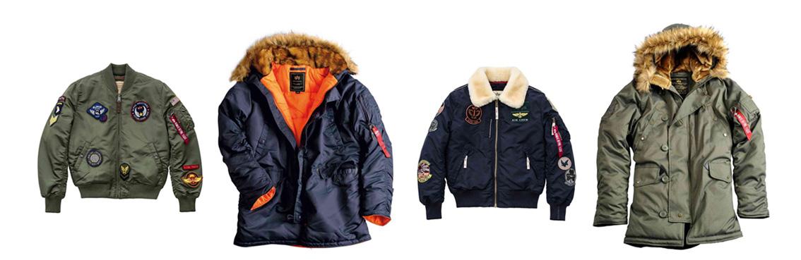 Alpha Industries -  бренд военной одежды, коллекция курток.