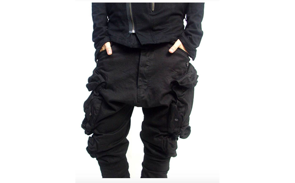 дизайнерский вариант штаны с накладными карманами бренда Julius