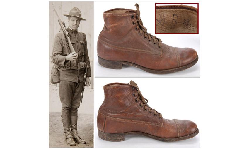 история военной обуви Russet Marching Shoes