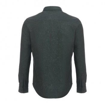 Рубашка мужская хлопок темно-серая