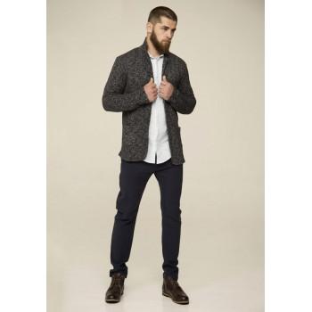 Пиджак мужской трикотажный серый