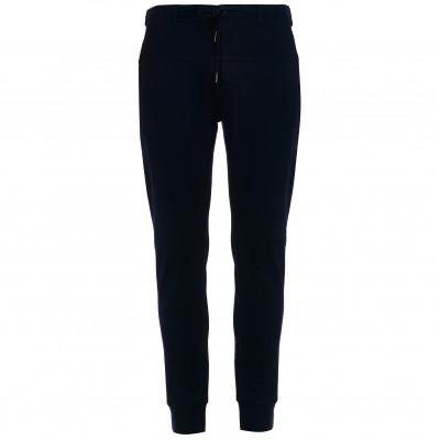 Мужские дизайнерские брюки-джоггеры темно-синие из хлопка с эластаном японского бренда Juoadashi